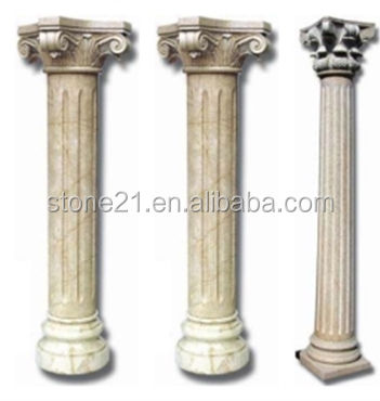 decorative pillars for homes, white roman column,round stone columns