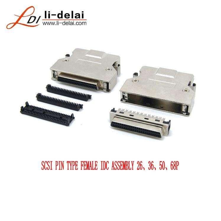 """IDC SCSI 50-Pin Ribbon Cable 58/"""" Long"""