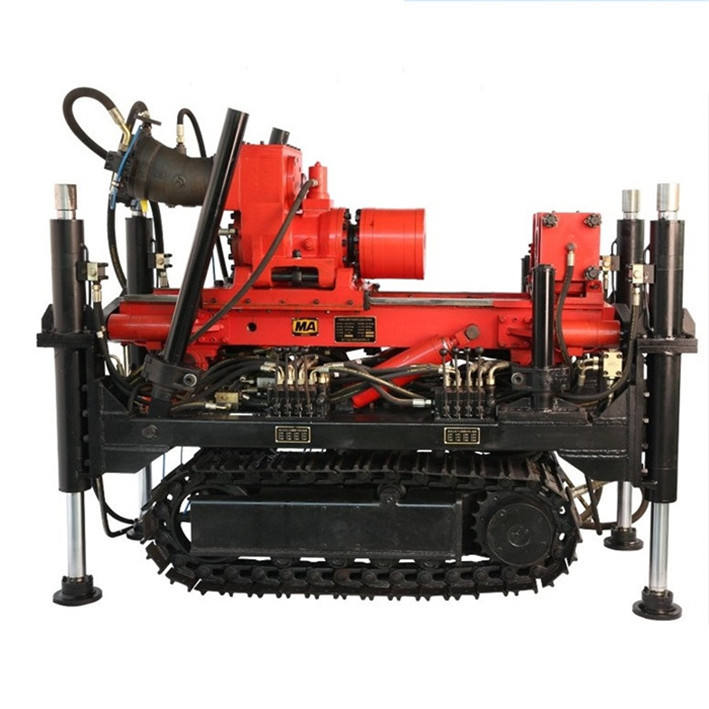 Crawler DTH drilling machine Diamond core geotechnical drilling rig
