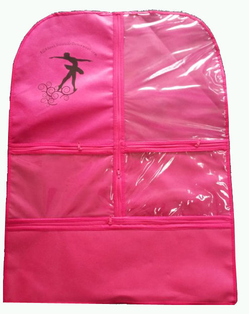 Design most popular zipper transparent window garment bag