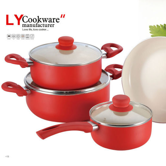 Widely used best quality ceramic coated cookware
