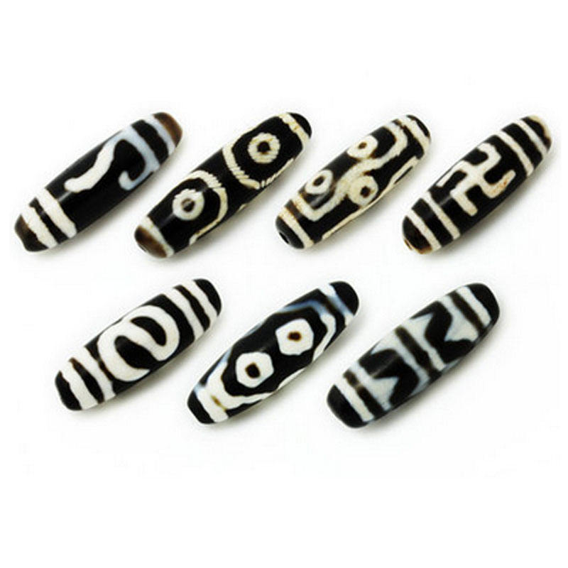 Tibeten Ancient Two/Three/Six/Seven/Nine Eyed Black&White dZi Bead