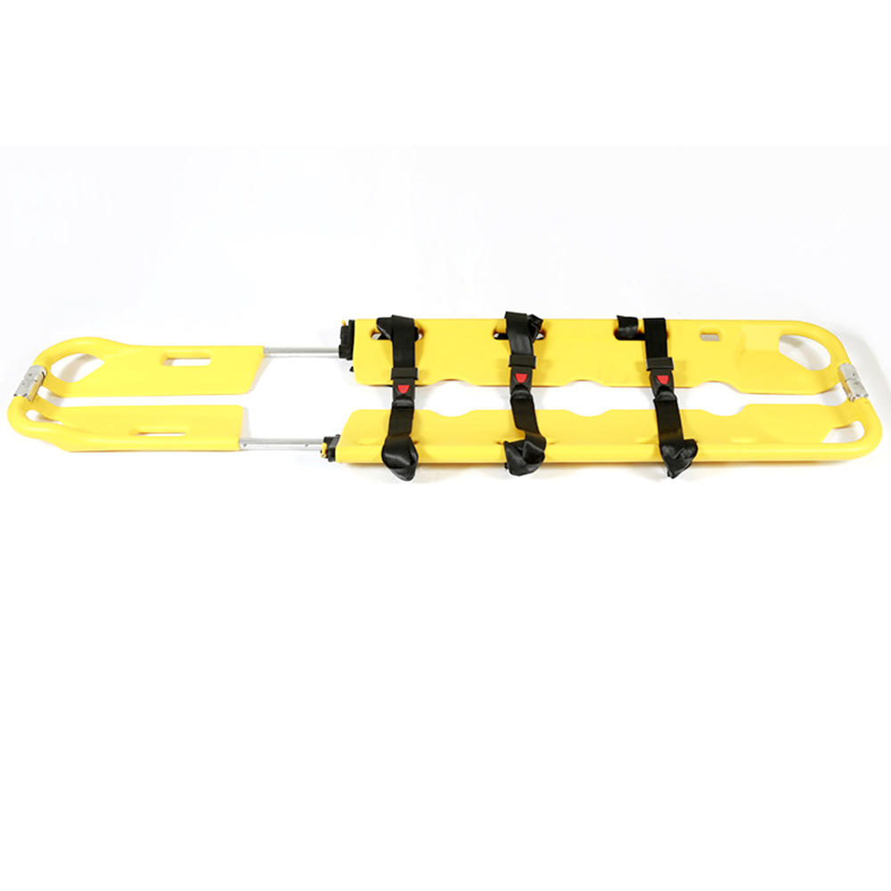 factory folding PE plastic ambulance emergency scoop stretcher