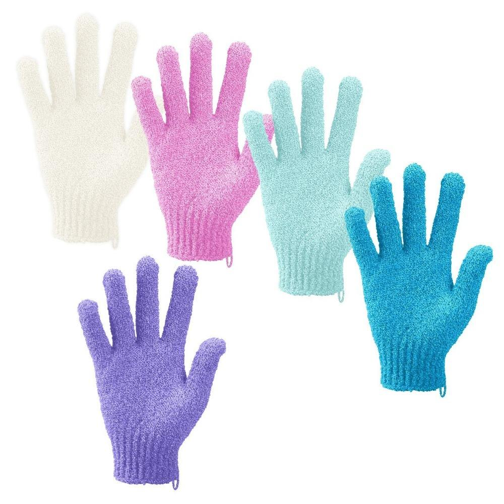 Customized Design OEM ODM Shower Scrub Gloves with Exfoliating Bath Gloves Mitten Dead Skin Cell Remover