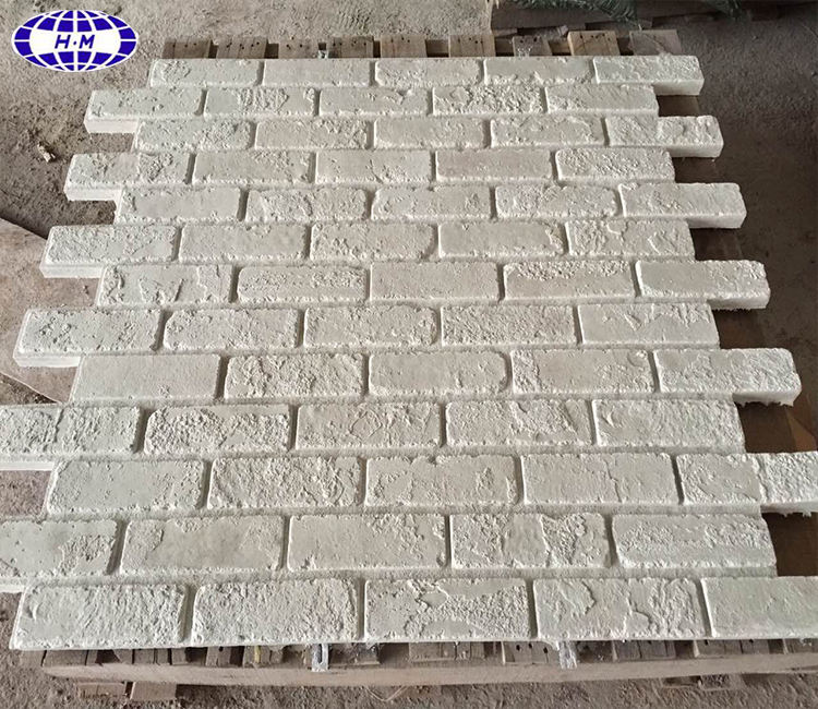 White brick artificial stone wall panels