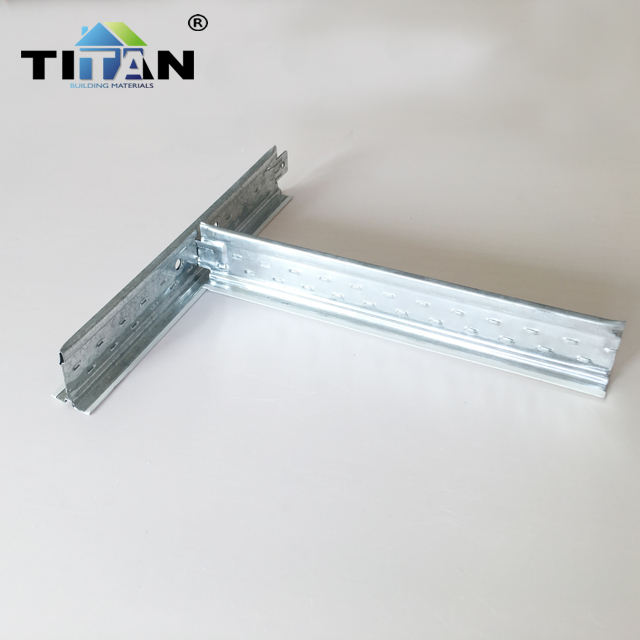 Metal T24 Flat Ceiling Tee Bar 0.3mm Thickness