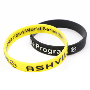 Custom Logo Wide Embossing Silicone Bracelet Wristband For Sports