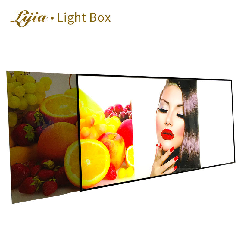 2019 hot sales LED highlight lightbox glass poster frame display cinematic indoor menu board lcd dotel advertising light box