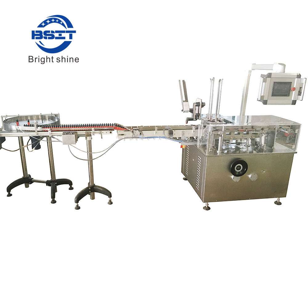 380V Eyedrop bottle carton filling packing machine with fold leaflet