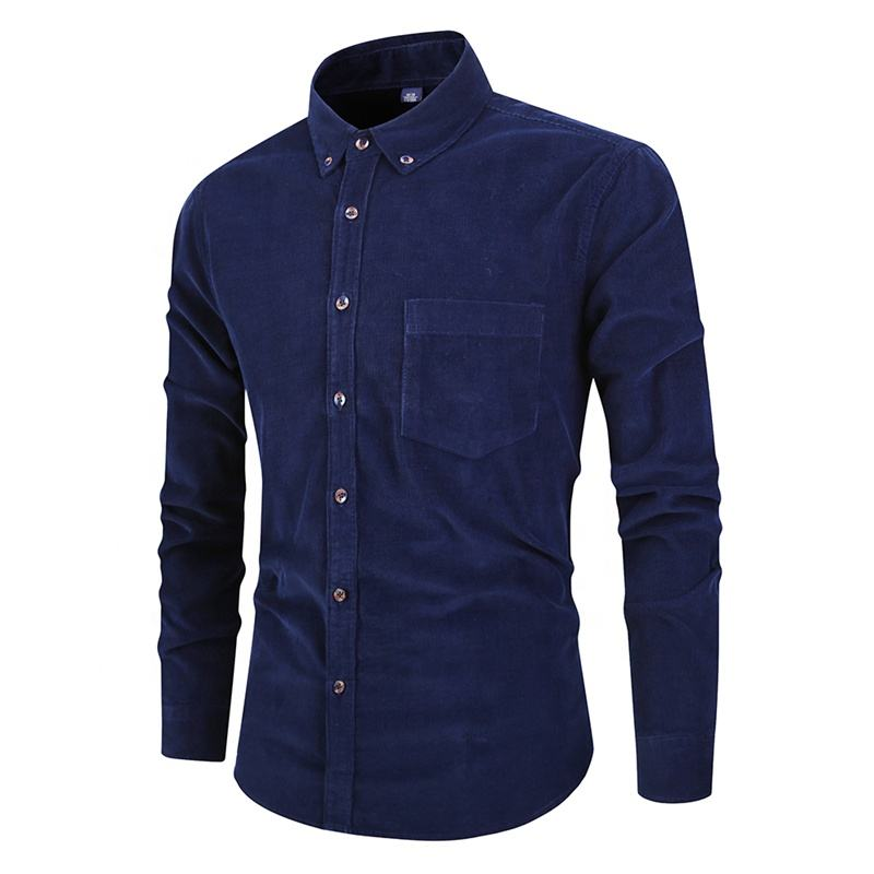 Men's clothing autumn retro shirt new korean men's corduroy shirt