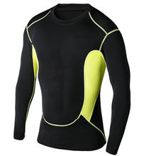 Men's compression cheap long sleeve sports tshirt