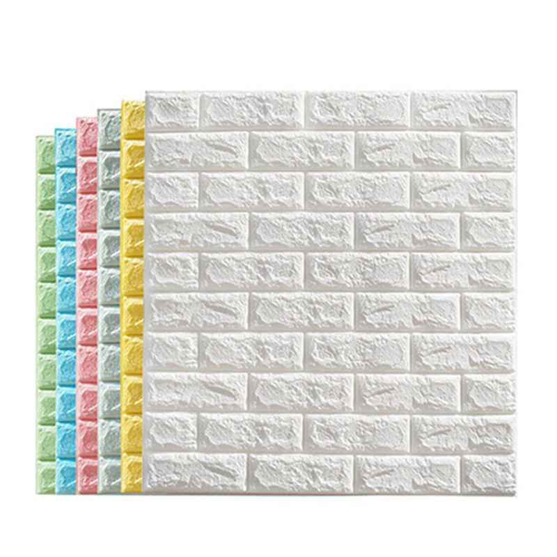 Insulation Wall 3d Brick Wallpaper Sponge Foam Blocks Innovative Latex Foam Bricks For Wholesaler for home decoration
