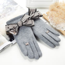 Wholesale ladies phone touch knitted cashmere thicken gloves
