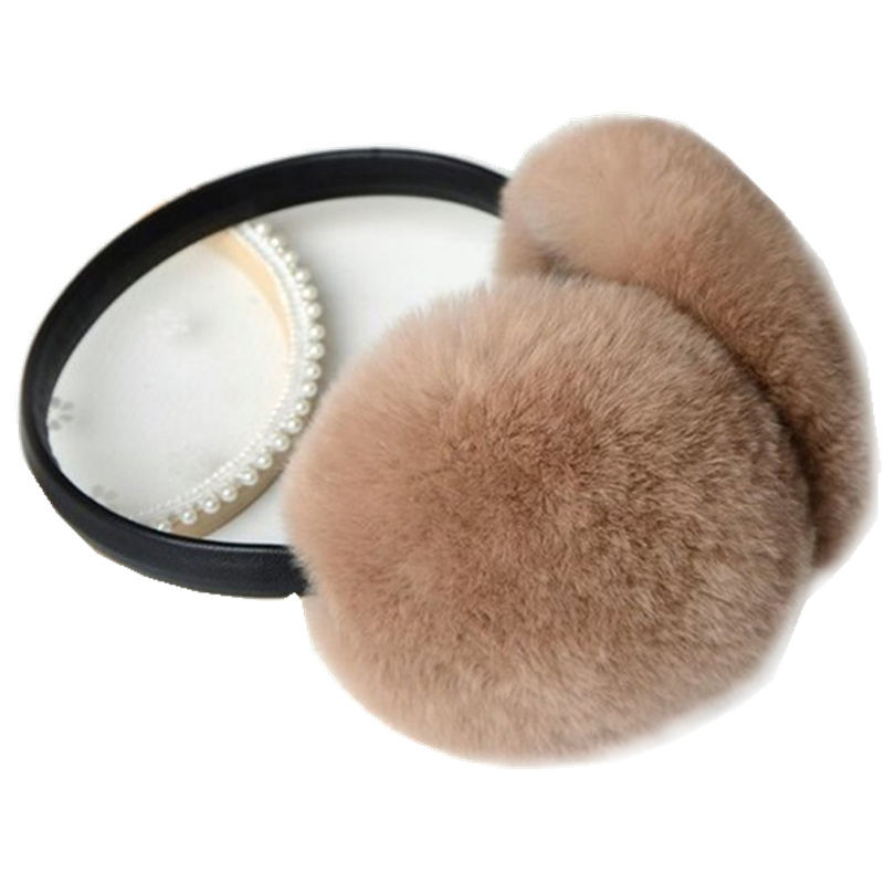 Adjustable ear production faux fur winter ear muff for girls