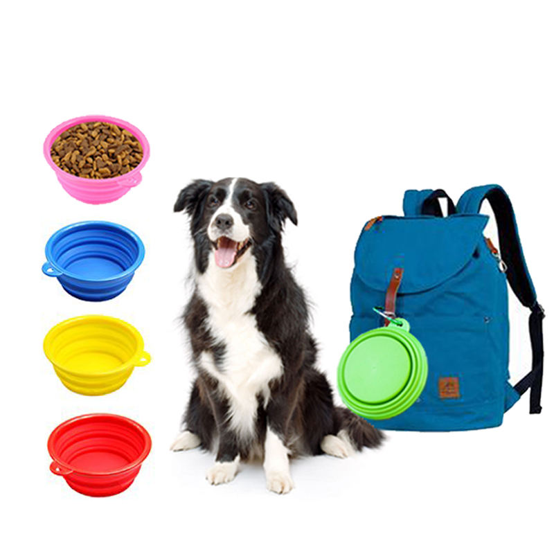 Wholesale all kinds of travel Collapsible silicone pet bowl