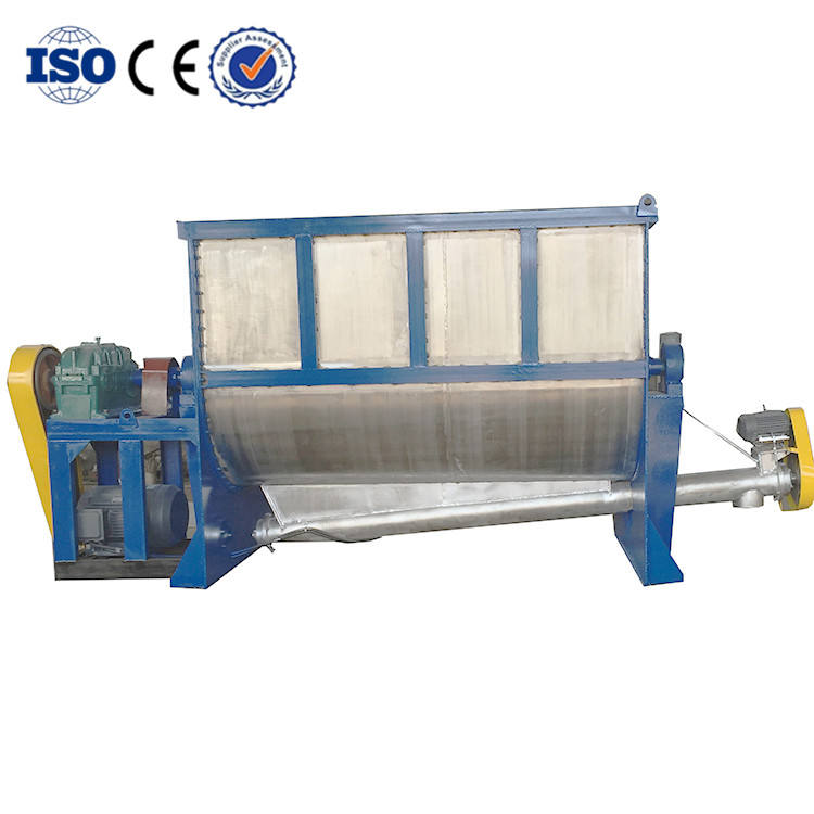Double shaft paddle mixer ,double helical ribbon horizontal mixer/powder flake making machine/dry fertilizer mixer