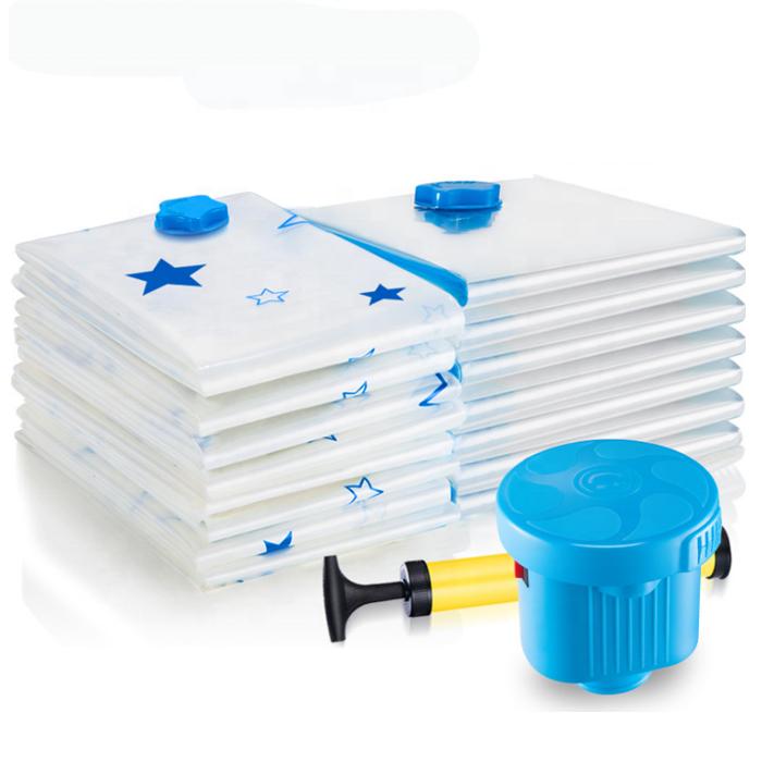 US Space Saver Saving Storage Bags Vacuum Seal Compressed Organizer Bag/&Pump