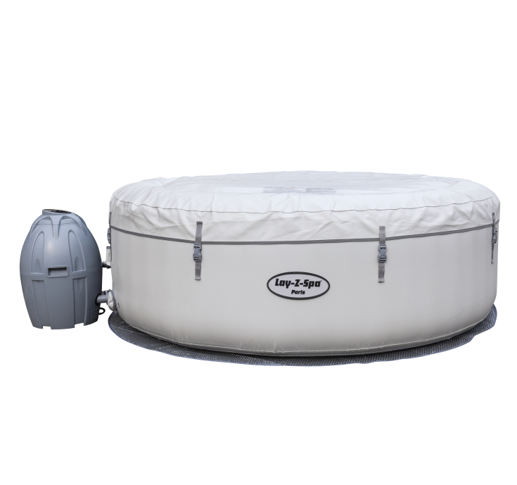 Bestway 54148 lay z spa Paris Inflatable airjet adult spa hot tub 4-6 person spa LED