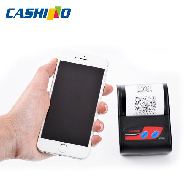 Cashino PTP-II 58mm IOS/Android portable imprimante de poche avec Bluetooth/Wifi/IrDA