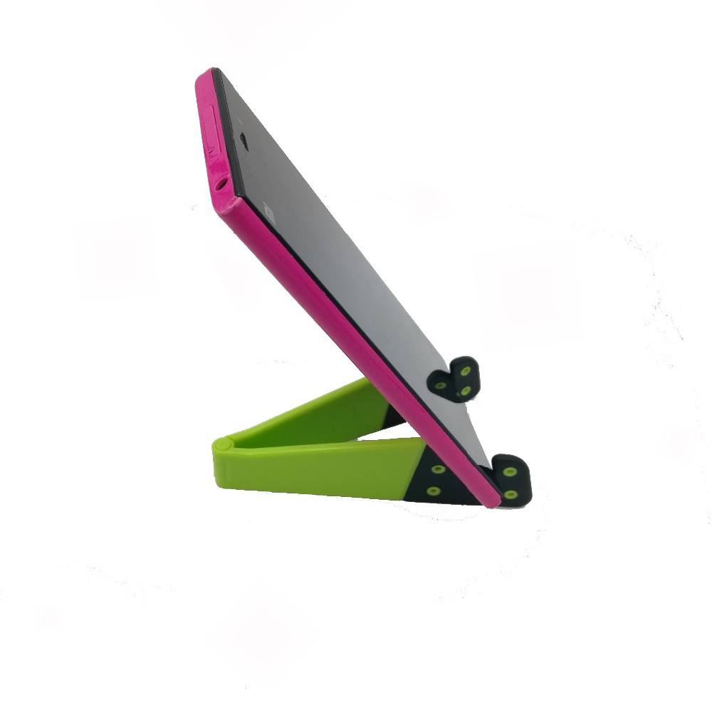 Universal Mini Colorful Portable V shaped Foldable Mobile Phone Holder For Ipad Tablet