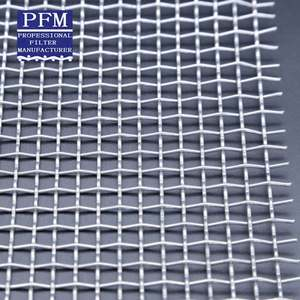 304 SS Woven Stainless Steel Square Crimped Wire Mesh dengan Galvanis
