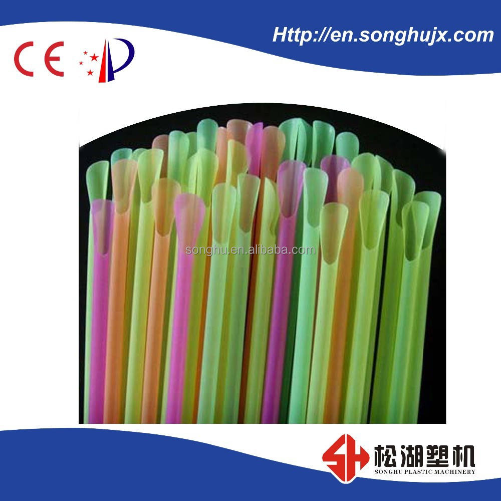 Three Color Hot Sale High Speed Automatic PP Drinking Straw Making Machine