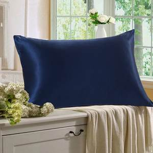 22mm blue 100% silk pillowcase /pillow cover for hair and skin