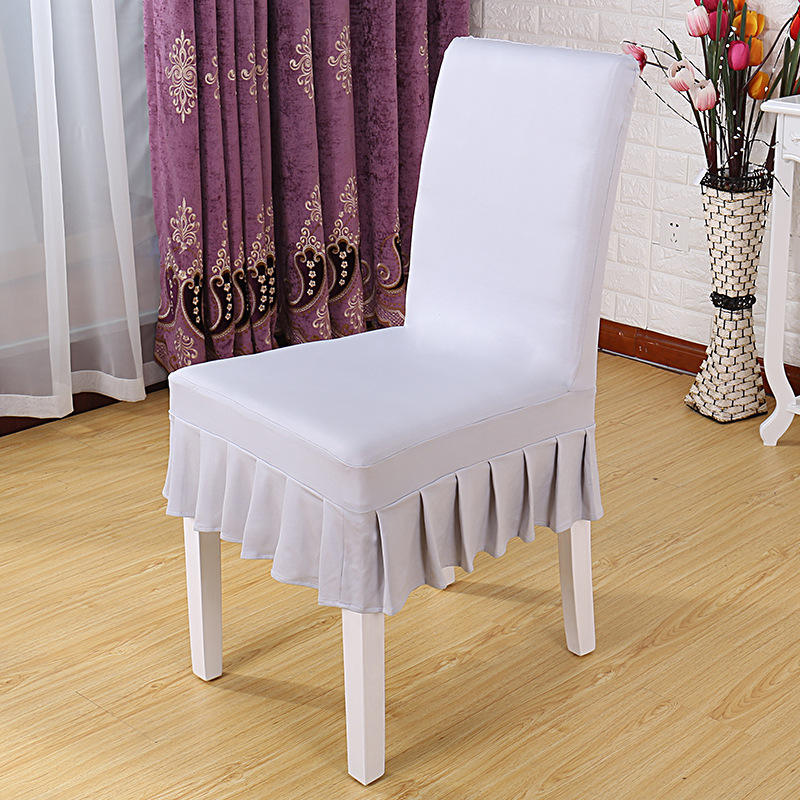 YRYIE Removeable Spandex Stretch Back Half Skirt Dining Slipcovers Chair Covers