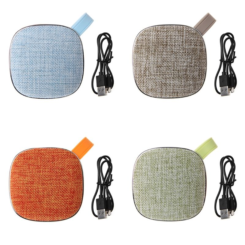 Mini Cloth Wireless Speaker Portable Stereo Subwoofer USB TF Card Speakers For Travel Leisure Music