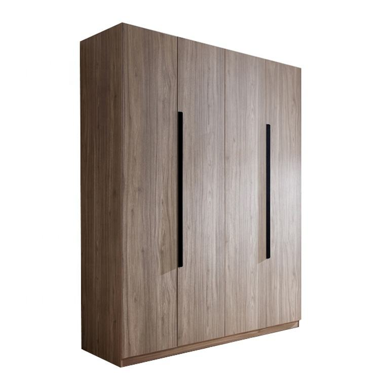 large storage modern design 4 doors wooden wardrobe for bedroom
