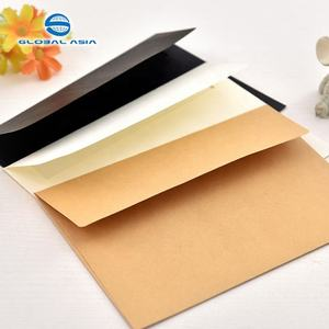 Bulk custom mini brown kraft paper envelope