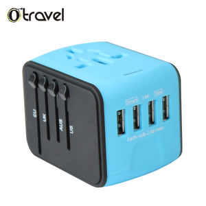 Neueste Neue universal travel smart usb elektrische steckdose adapter universal travel adapter 4 usb