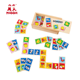 Children educational animal recognition 28 pcs kids wooden domino toy for baby 2+