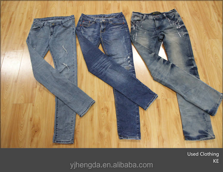 women denim pants jean pants fashion design bales used clothes second hand clothing sale