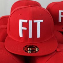 Custom Logo Red Embroidered Caps,Wholesale 6 Panel Acrylic Snapback Hats
