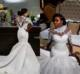 OEM Beach Wedding Dresses Lace And Tulle Cap Sleeves Mermaid Wedding Dress Count Train African Bridal Gowns WD6122