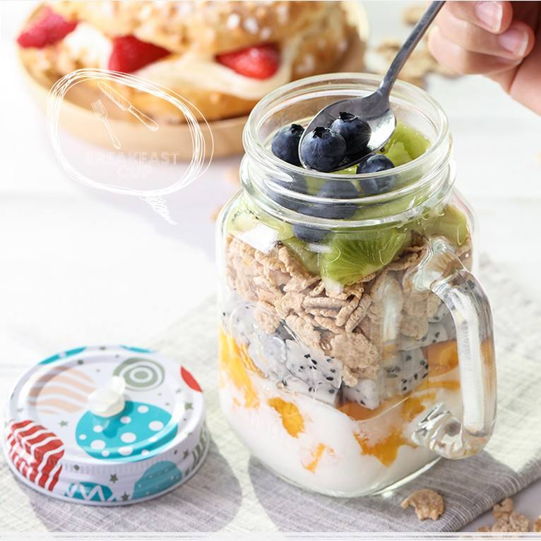180ML New Shape Bottle Oblate Glass Bottle Honey Glass Jar With Tin Plate Lid Food Jam Glass Bottle