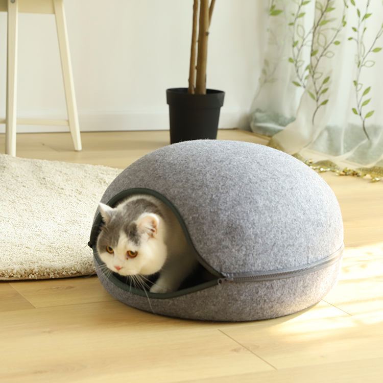Speedy Pet Removable Cave Pet Bed /Egg Shape Cozy Felted Pet Bed
