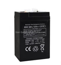 Mini battery 6v 4ah 20hr rechargeable battery for scales