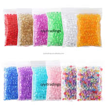 Mixed Color Fishbowl Beads Slime Foam Balls Beads DIY Making Crafts Slime Kit For Kids
