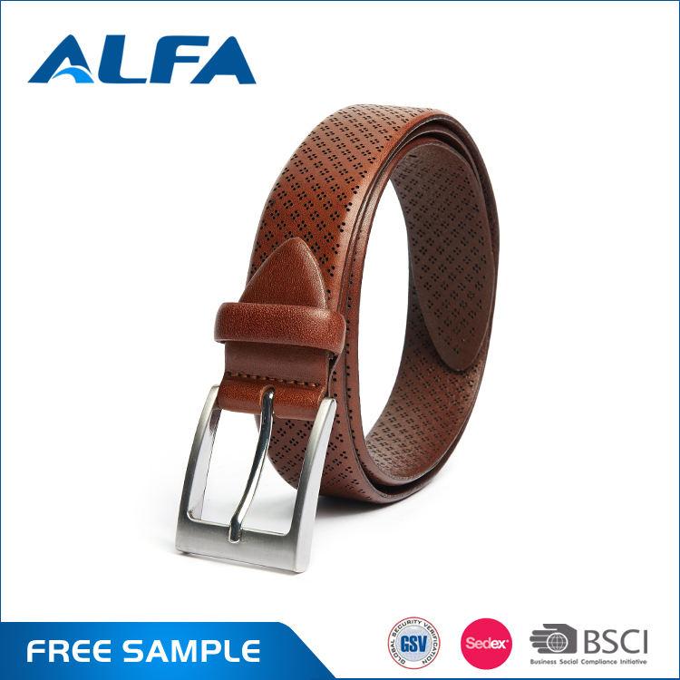 Alfa 2017 منتجات جديدة مخصصة أنواع مختلفة العيينة الأصلي النقي جلد البقر الرجال حزام