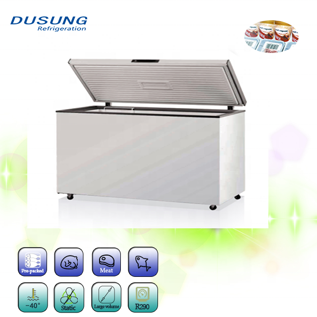 Solid door low noise deep fridge refrigerator freezer chest