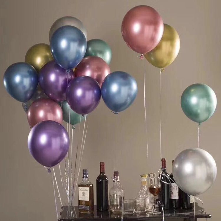 china custom cheap metallic helium balloon latex ballons gold metal balloon for happy birthday party decoration