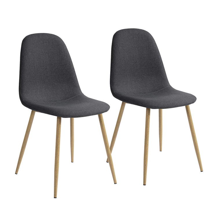 Modern and cheap price fabric and iron tube dining chair