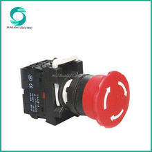 LA115-A1 series, 22mm plastic 10A micro round emergency stop switch push button