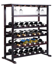 24 bottle wine rack wooden modern wine bar cabinet Wine storage table for home