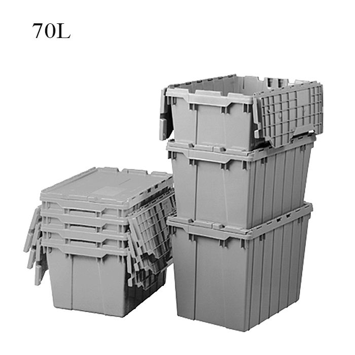 70 liter stackable ALC container plastic crates moving storage tote boxes for moving company