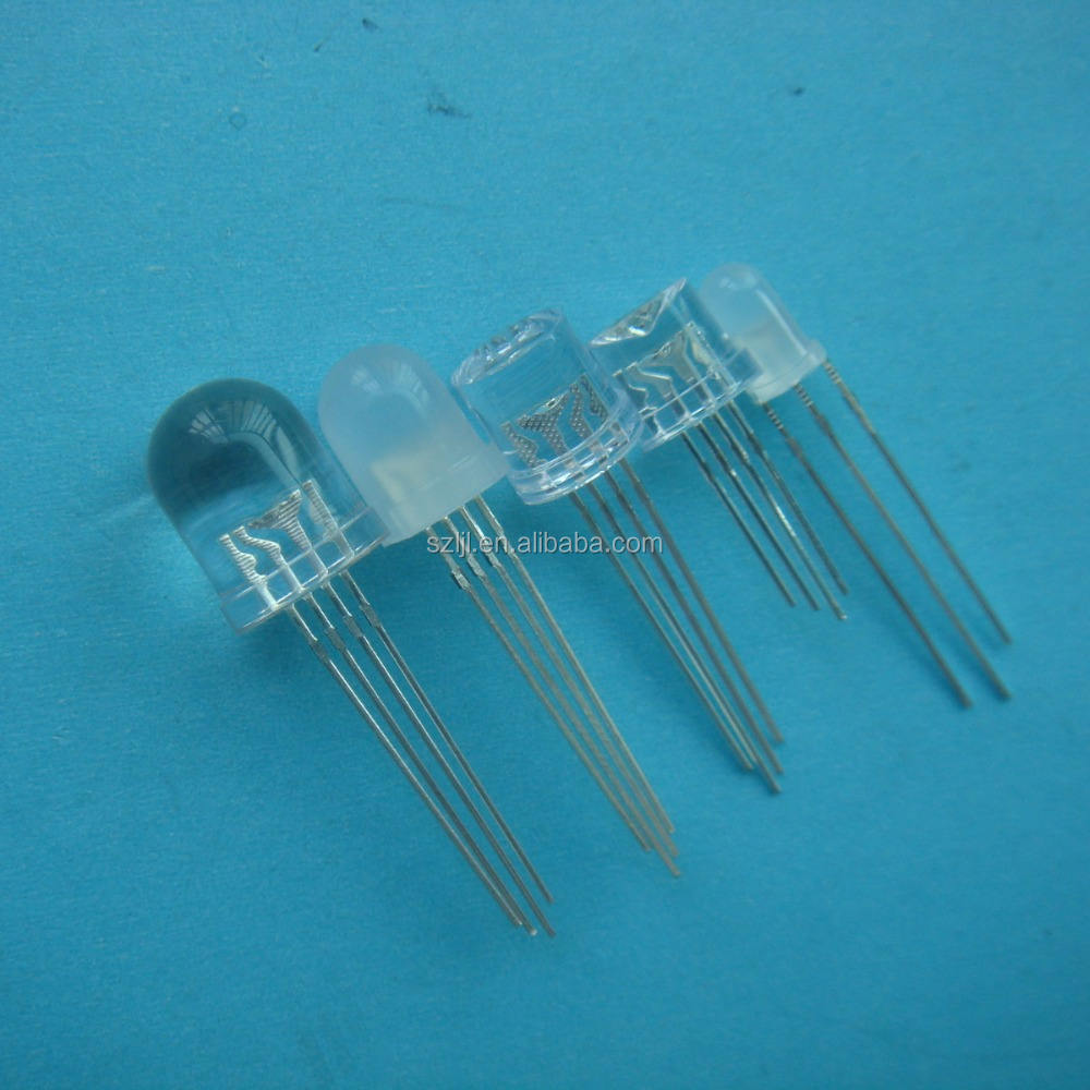 50pcs Water Clear LED 10mm RGB Slow flashing 2 pin Flash Automatically LED Diode