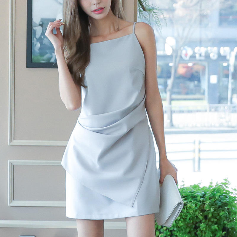high end women full slips for dresses ladies slip clothes korean model clothing female garments dot dress