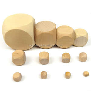 Pack of 50 Pieces 16mm Rounded Wooden Dice Set Blank Wood Dice Craft Design